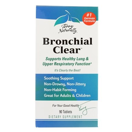 EuroPharma - Terry Naturally Bronchial Clear - 90 Tablets