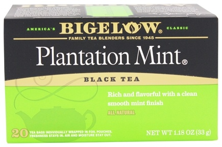 Bigelow Tea - Black Tea Plantation Mint - 20 Tea Bags