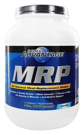 Pure Advantage - MRP All Natural Meal-Replacement Shake Vanilla Flavor - 3 lbs.