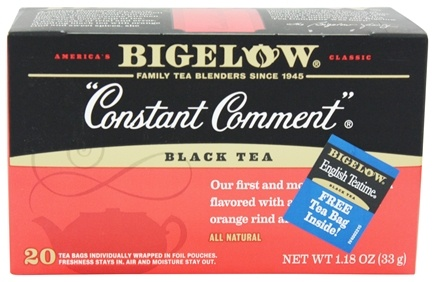 Bigelow Tea - Black Tea Constant Comment Decaffeinated - 20 Tea Bags