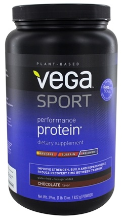 Vega - Vega Sport Natural Plant Based Performance Protein Chocolate - 29.5 oz.