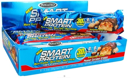 DROPPED: Muscletech Products - Smart Protein Bar Peanut Caramel Crunch - 3.3 oz.