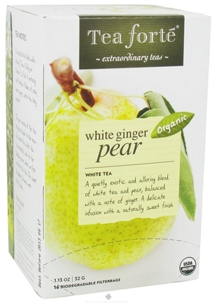 DROPPED: Tea Forte - White Tea Organic Filterbags White Ginger Pear - 16 Tea Bags