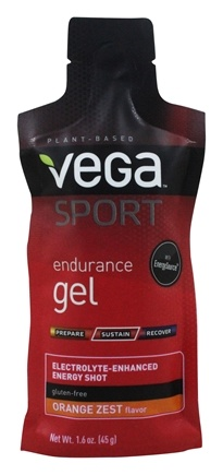 Vega - Vega Sport Natural Plant Based Endurance Gel Orange Zest - 1.6 oz.