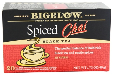 Bigelow Tea - Chai Tea Spiced - 20 Tea Bags