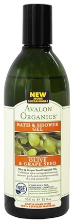 Avalon Organics - Bath & Shower Gel Olive & Grape Seed Fragrance-Free - 12 oz.