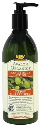 Avalon Organics - Hand & Body Lotion Olive & Grape Seed Fragrance-Free - 12 oz.