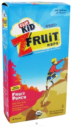 DROPPED: Clif Bar - Kid Organic Twisted Fruit Rope Fruit Punch - 6 Pack