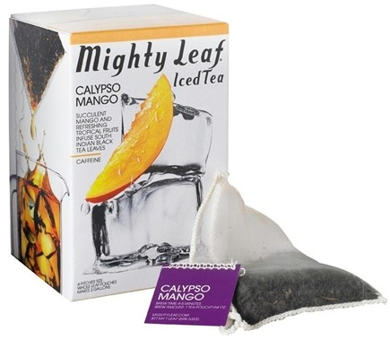 DROPPED: Mighty Leaf - Black Iced Tea Calypso Mango - 4 Tea Bags CLEARANCE PRICED