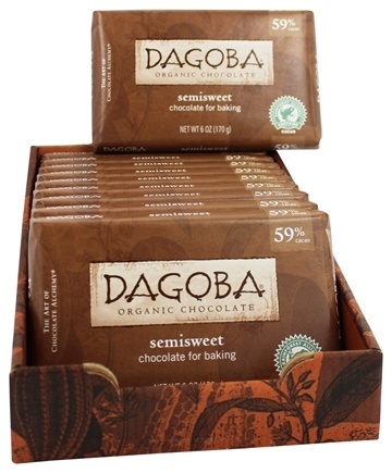 Dagoba Organic Chocolate - Semisweet Chocolate Bar for Baking - 6 oz.