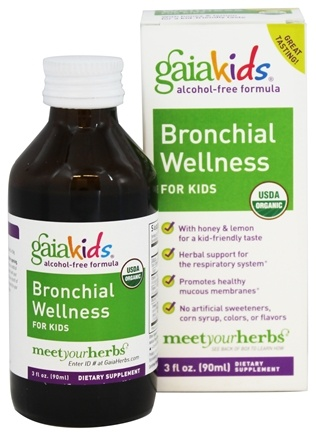 Gaia Herbs - GaiaKids Bronchial Wellness for Kids with Honey & Lemon - 3 oz.