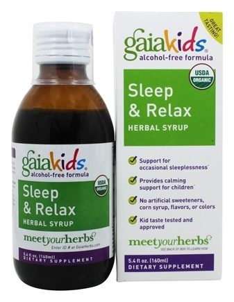 Gaia Herbs - GaiaKids Sleep & Relax Herbal Syrup - 5.4 oz.