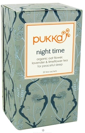 DROPPED: Pukka Herbs - Organic Oat Flower, Lavender & Limeflower Tea Night Time - 20 Tea Bags