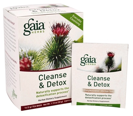 Gaia Herbs - Cleanse & Detox Herbal Dietary Tea - 16 Tea Bags