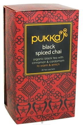 DROPPED: Pukka Herbs - Organic Black Tea Spiced Chai - 20 Tea Bags CLEARANCE PRICED