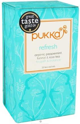DROPPED: Pukka Herbs - Organic Peppermint, Fennel & Rose Tea Refresh - 20 Tea Bags