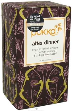 DROPPED: Pukka Herbs - Organic Fennel, Chicory & Cardamom Tea After Dinner - 20 Tea Bags