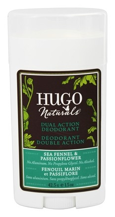 DROPPED: Hugo Naturals - Dual Action Deodorant Safe For Sensitive Skin Sea Fennel & Passionflower - 1.5 oz.