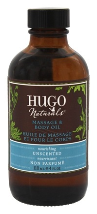 DROPPED: Hugo Naturals - Massage & Body Oil Nourishing Unscented - 4 oz. CLEARANCE PRICED