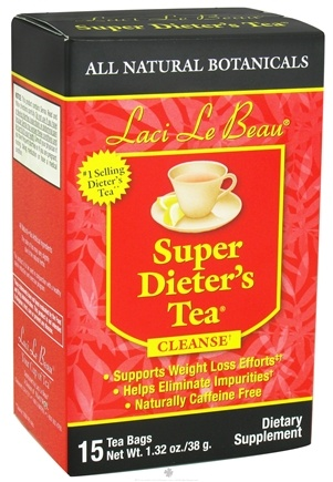 DROPPED: Laci Le Beau - Super Dieter's Tea Cleanse Caffeine Free - 15 Tea Bags CLEARANCE PRICED