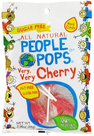 DROPPED: People Pops - All Natural People Pops Very, Very Cherry - 2.96 oz. CLEARANCE PRICED