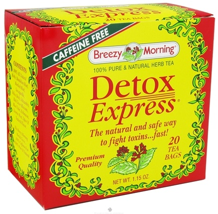 DROPPED: Breezy Morning Tea - Detox Express Herb Tea 100% Pure & Natural Caffeine Free - 20 Tea Bags CLEARANCE PRICED