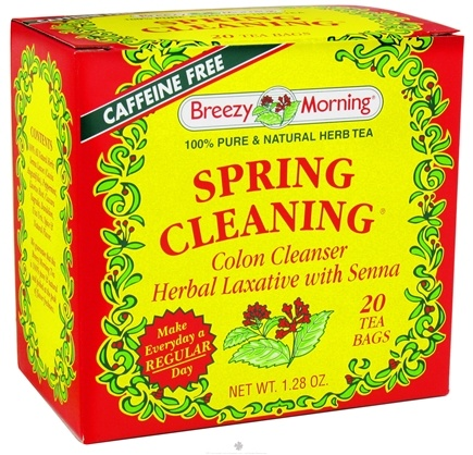 DROPPED: Breezy Morning Tea - Spring Cleaning 100% Pure & Natural Herb Tea Caffeine Free - 20 Tea Bags