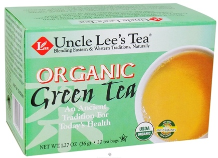 DROPPED: Uncle Lee's Tea - Green Tea Organic - 20 Tea Bags CLEARANCE PRICED