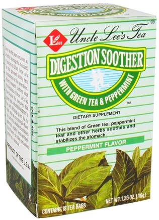 DROPPED: Uncle Lee's Tea - Digestion Soother Green Tea Peppermint - 18 Tea Bags CLEARANCE PRICED