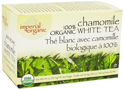 DROPPED: Uncle Lee's Tea - Imperial Organic White Tea 100% Organic Chamomile - 18 Tea Bags CLEARANCE PRICED