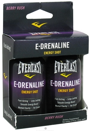 DROPPED: Everlast Sports Nutrition - E-Drenaline Energy Shot 2 Pack Berry Rush - 2 oz. CLEARANCE PRICED