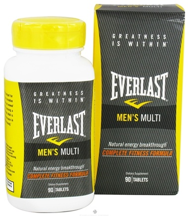 DROPPED: Everlast Sports Nutrition - Men's Multi - 90 Tablets CLEARANCE PRICED