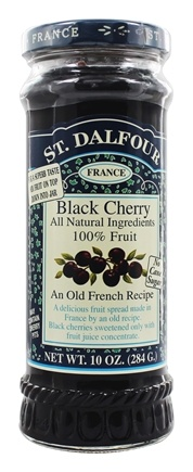St. Dalfour - Fruit Spread 100% Natural Jam Black Cherry - 10 oz.