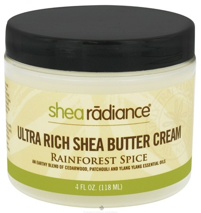 DROPPED: Shea Radiance - Ultra Rich Shea Butter Cream Rainforest Spice - 4 oz. CLEARANCE PRICED