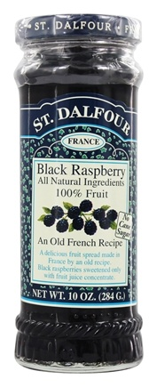 St. Dalfour - Fruit Spread 100% Natural Jam Black Raspberry - 10 oz.