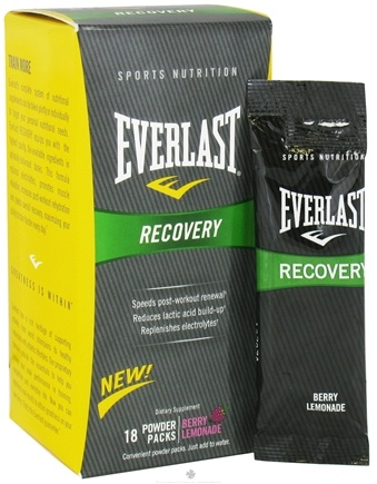 DROPPED: Everlast Sports Nutrition - Recovery Powder Packs Berry Lemonade - 18 Pack(s)