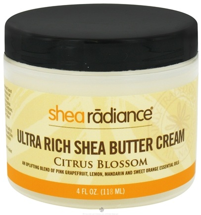 DROPPED: Shea Radiance - Ultra Rich Shea Butter Cream Citrus Blossom - 4 oz. CLEARANCE PRICED
