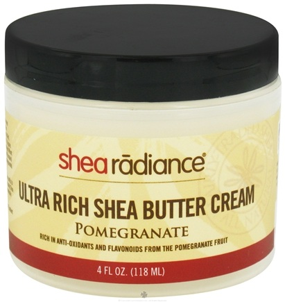 DROPPED: Shea Radiance - Ultra Rich Shea Butter Cream Pomegranate - 4 oz. CLEARANCE PRICED