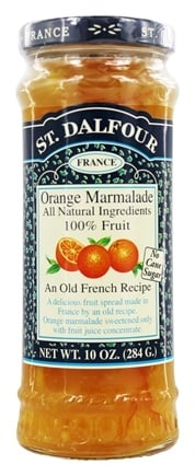 St. Dalfour - Fruit Spread 100% Natural Jam Orange Marmalade - 10 oz.