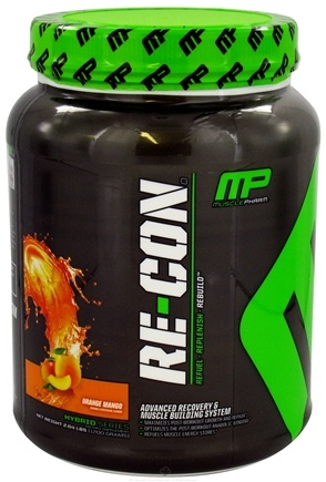 DROPPED: Muscle Pharm - Recon Advanced Recovery and Muscle Building System Orange Mango - 2.64 lbs.
