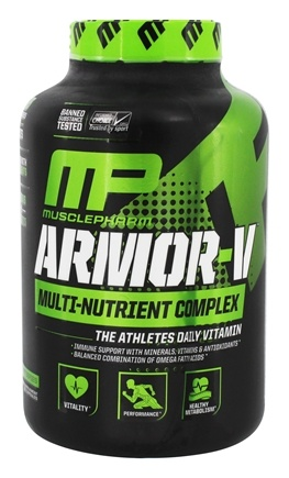 DROPPED: Muscle Pharm - Armor-V Advanced Multi Nutrient Complex - 180 Capsules