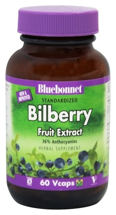 DROPPED: Bluebonnet Nutrition - Standardized Bilberry Fruit Extract 80 mg. - 60 Vegetarian Capsules