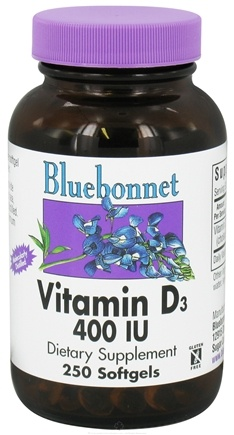 DROPPED: Bluebonnet Nutrition - Vitamin D3 400 IU - 250 Softgels CLEARANCE PRICED