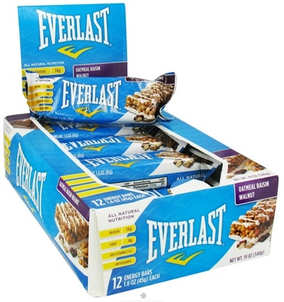 DROPPED: Everlast Sports Nutrition - Energy Bar Oatmeal Raisin Walnut - 1.6 oz. CLEARANCE PRICED