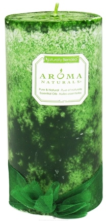 """DROPPED: Aroma Naturals - Evergreen Holiday Naturally Blended Pillar Eco-Candle 3"""" x 6"""" Juniper, Spruce & Basil"""