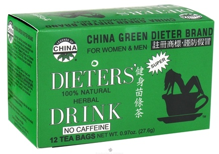 DROPPED: Uncle Lee's Tea - Dieter's Drink Herbal Tea 100% Natural No Caffeine - 12 Tea Bags CLEARANCE PRICED
