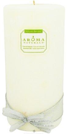 """DROPPED: Aroma Naturals - Wish Holiday Naturally Blended Jumbo Pillar Eco-Candle 4"""" x 8"""" Peppermint & Vanilla - CLEARANCE PRICED"""
