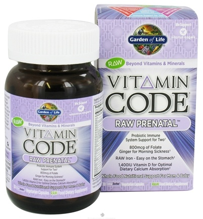 DROPPED: Garden of Life - Vitamin Code Raw Prenatal - 30 Vegetarian Capsules CLEARANCE PRICED