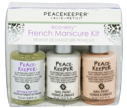 DROPPED: PeaceKeeper Cause-Metics - Eco-Sexy French Manicure Kit - CLEARANCE PRICED