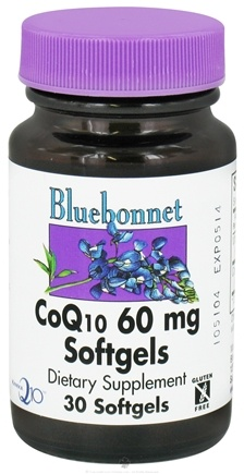 DROPPED: Bluebonnet Nutrition - CoQ10 Ubiquinone From Kaneka 60 mg. - 30 Softgels CLEARANCE PRICED